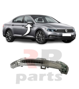 VW PASSAT B8 2014-2018 WING MIRROR COVER CAP PRIMED RIGHT O//S DRIVER