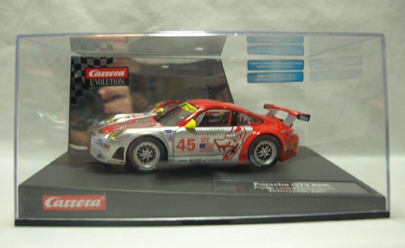 Carrera Evolution 27210 Porsche 911 GT3 RSR Flying Lizard Motorsp.-Sebring 2007    Förderung