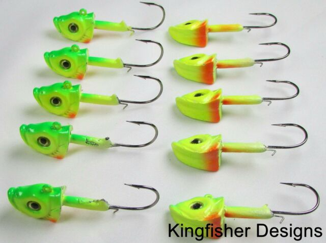 Lot of 12 Northland Mimic Minnow Standup Jig heads Jigs Fishing Lures 1//2 oz