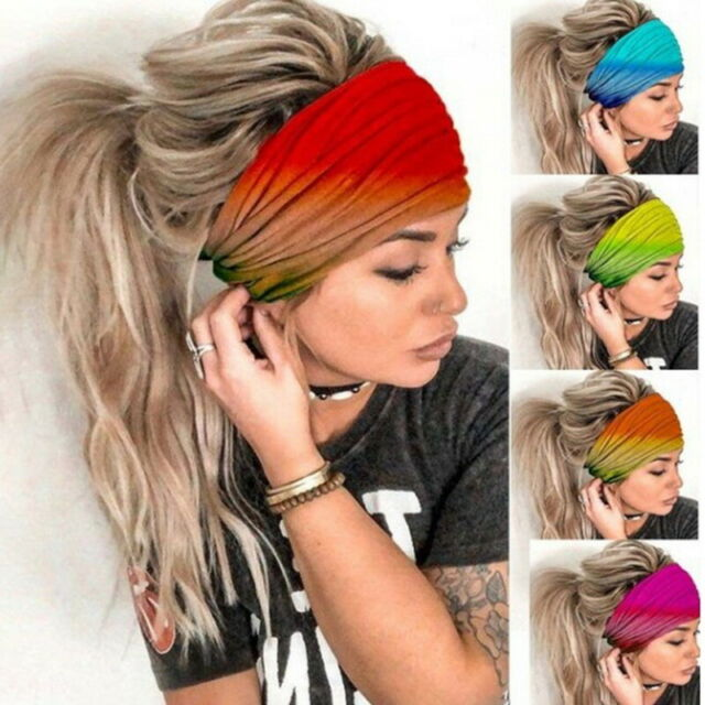 Boho Women Headbands Headwraps Tie Dye Turban Hairbands Fashion Hair Accessories
