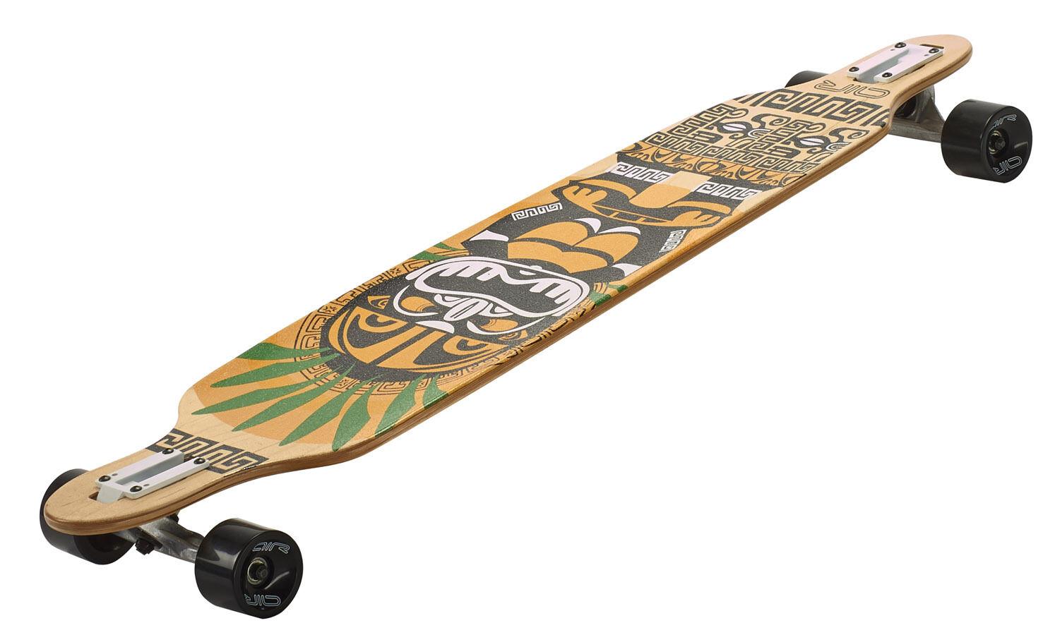 Longboard Komplettboard Einsteiger Einsteiger Komplettboard Drop Shape Niedrig Sportbanditen Dropmount 107 cm 777987