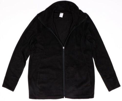 New Maternity Semi Fitted Micro Performance Fleece Zip Jacket NWOT Black Sz XXL