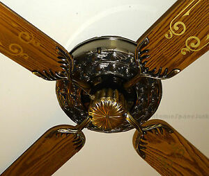 Moss heirloom olympus ceiling fan vintage 1980 ornate cast metal image is loading moss heirloom olympus ceiling fan vintage 1980 ornate aloadofball Choice Image