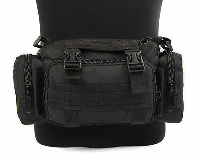 MOLLE 4 Pouch Pocket Waist Utility Tactical Military Bum Carry Bag Pack Backpack