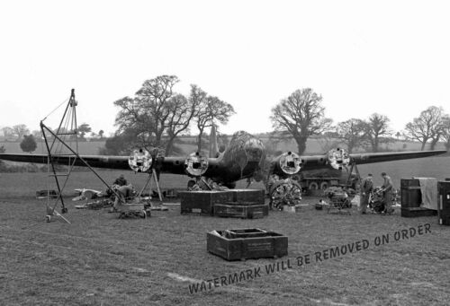 Photograph WWII B-17F Engine Change 303rd Bomb Group Year 1944 11x17