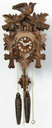 Quality hand-carved *all mechanical*   German cuckoo clock 11-09 traditional