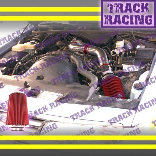 92-95 FORD CROWN VICTORIA//LINCOLN TOWN CAR//MERCURY 4.6L FULL AIR INTAKE Red