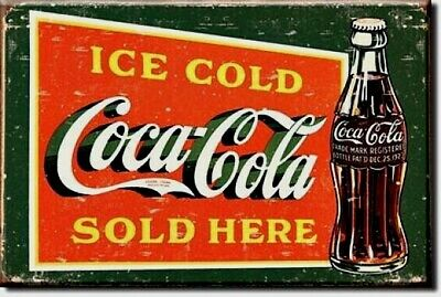 COKE 1915 COCA COLA   Bottle  Miniature 2 by 3 Inch  Metal Sign Magnet