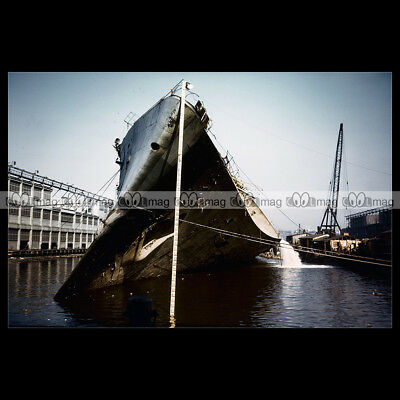 #php.01288 Photo SS NORMANDIE CGT NEW YORK 1940/'S PAQUEBOT OCEAN LINER