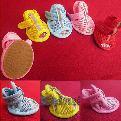 Small Dog Anti-Slip Shoes For Small Pet Shoes Breathable Mesh Sports 4PCS/sets