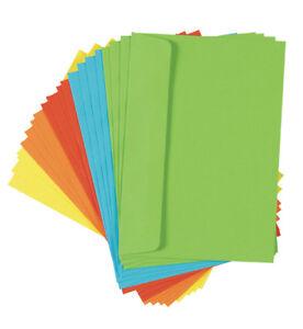 200-10x-20Stk-farbige-Briefumschlaege-Din-C6-5-verschiedene-Farben