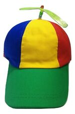 8e42ddb19e2 Adult Propeller Beanie Hat Clown Costume Spinner Copter Helicopter Ball Cap
