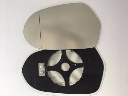 AUDI A6  2011 DOOR wing  MIRROR GLASS HEATED WIDE ANGLE CLIP ON  LEFT