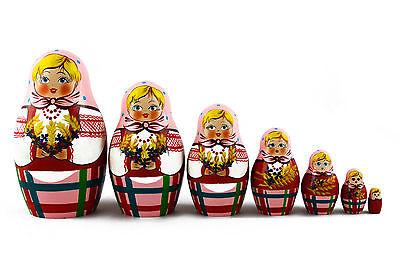 Ashberry Rowanberry Matryoshka Russian Nesting Dolls Matrioska Wooden Set 7 Pcs
