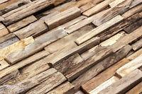 Wandverkleidung 3d Holz Wand Verkleidung Teak Altholz Paneele Slim 1 Qm Hwv22tn