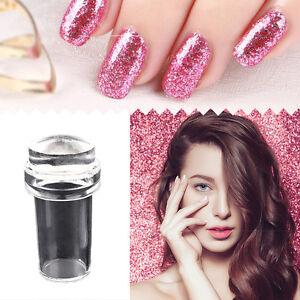 Nail-Art-Clear-Head-Silicone-Stamper-Scraper-Cap-Set-Transparent-Stamping-Tool