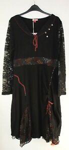 Ee Size Long Black £49 17 Dh092 95 Uk Tunic Rrp Dress Joe 14 Browns Trim Lace wgqTT60