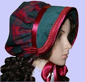 Victorian Ladies Bonnet Costume Fancy Dress Dickensian Christmas