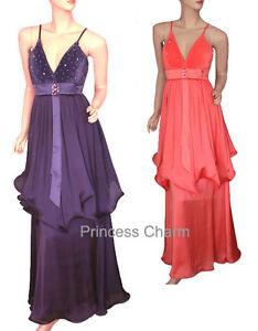 Princess-Charm-Purple-Coral-Formal-Evening-Dress-Size-10-12-14-16-18-20-22-New