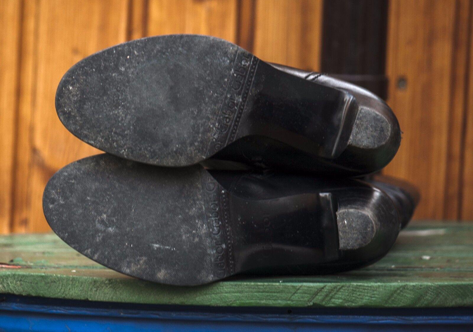 Gabor 38,5 Echtleder Stiefel Gr. 38,5 Gabor bzw. 5,5, schwarz,High Heels f26abb