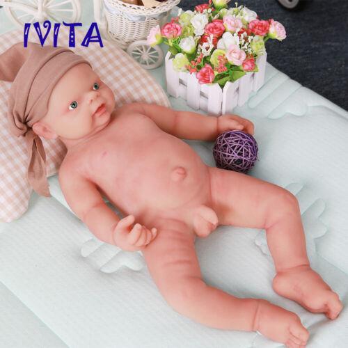 Xmas Gift 18/'/' Reborn Dolls Newborn Full Body Soft Silicone Baby Cute Boy 3600g