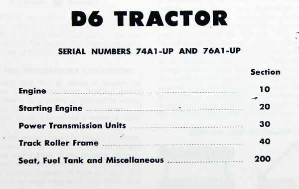 CATERPILLAR D6 D6C CRAWLER TRACTOR DOZER SERVICE REPAIR MANUAL 74A1 up 76A1  up