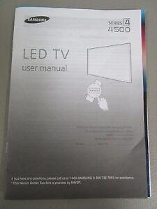 samsung led tv series 4 4500 user manual new ebay rh ebay com manual tv led samsung 32 manual tv led samsung serie 5