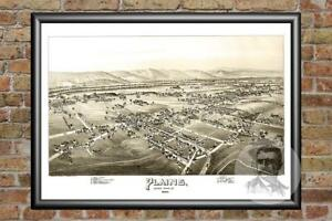 Old-Map-of-Plains-PA-from-1892-Vintage-Pennsylvania-Art-Historic-Decor