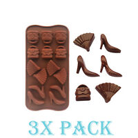 3 X Shoes Purse Silicone Mold Ice Cube Tray Jello Fashion Candy Gummy Chocolate