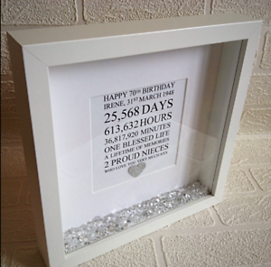 Image Is Loading 50th Birthday Gift Frame For Mum Personalised 21st