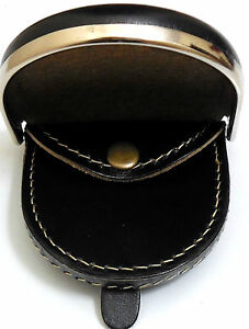 A Medium sized Horseshoe coin change wallet tray purse in Brown Black or Tan
