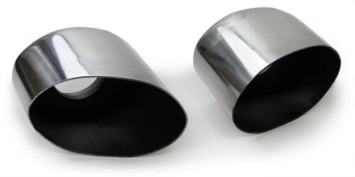 STAINLESS STEEL OVAL TAILPIPES EXHAUST TIPS PIPES FOR Porsche 911 993 94-97