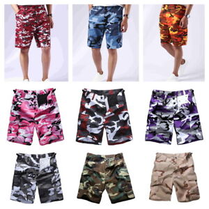 Mens-Boys-Army-Military-BDU-Shorts-Outdoor-Hunt-Camp-Casual-Camo-Cargo-Shorts