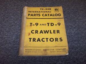International-Harvester-T9-TD9-Crawler-Dozer-Tractor-Parts-Catalog-Manual-Guide