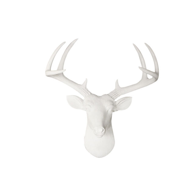 Wall Charmers Faux White Antelope Head
