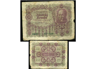 AUTRICHE-20-kronen-1922-1001