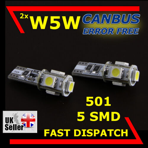 W5W T10 501 5 SMD LED SIDELIGHT INTERIOR CANBUS BULBS CITROEN DS3
