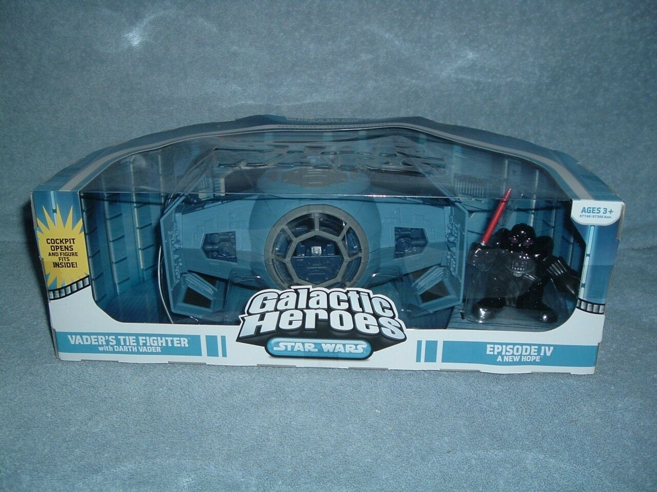 Darth Vader's Tie Fighter Galactic heroes Star Wars un nouvel espoir DGSIM 2008 NOUVEAU