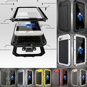 Shockproof-Military-Aluminum-Metal-Gorilla-Glass-Case-Cover-for-Samsung-S10-S9