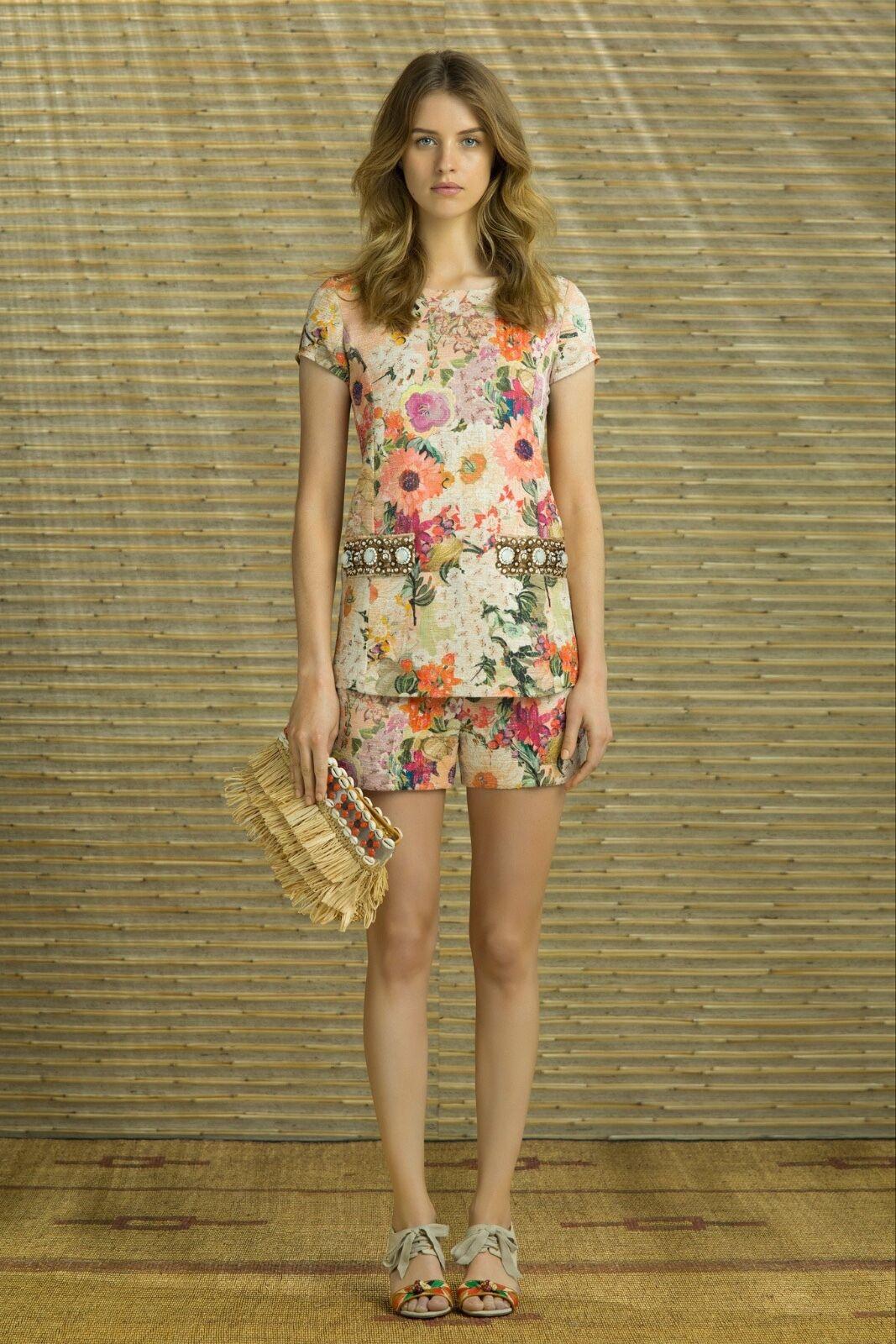 Tory Burch Garden Party  Jillian Tunic Floral Resort 4 Gorgeous S