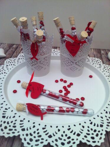 Gastgeschenke Reagenzglas Hochzeit Tischkarten Taufe Konfirmation Give away