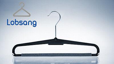 20 Kunststoff Kleiderbügel Hosenbügel Steg Schaumstoff rutschfest platzsparend