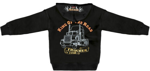 Druck KING OF THE ROAD Trucker 132046 Kapuzenjacke black grosse Einstickung