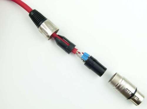 4x 0,5 m Mikrofonkabel Adam Hall K3 MMF 0050 ROT 3-Star XLR DMX Mikrofon Kabel