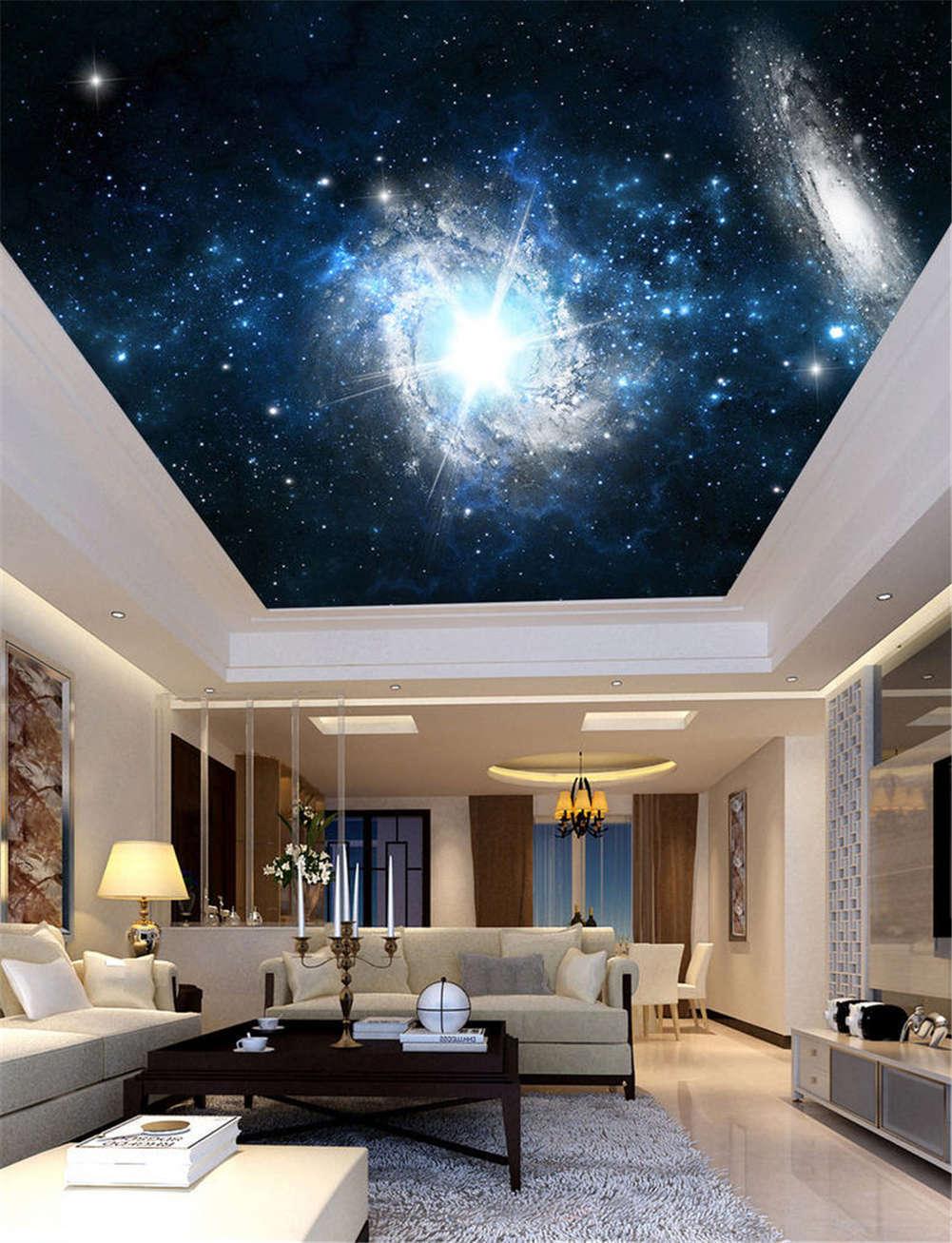 Salient Rummy Night 3D Ceiling Mural Full Wall Photo Wallpaper Print Home Decor