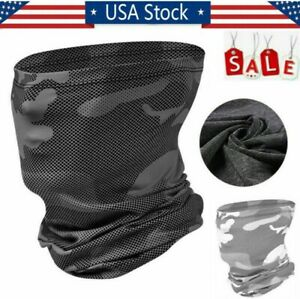 Cooling Face Scarf Sun Shield Neck Gaiter Balaclava Neckerchief Bandana Headband