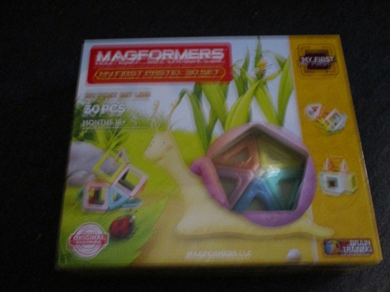 My First Magformers 30 Pieces Magnetic Shapes 3D Building Construction Toy
