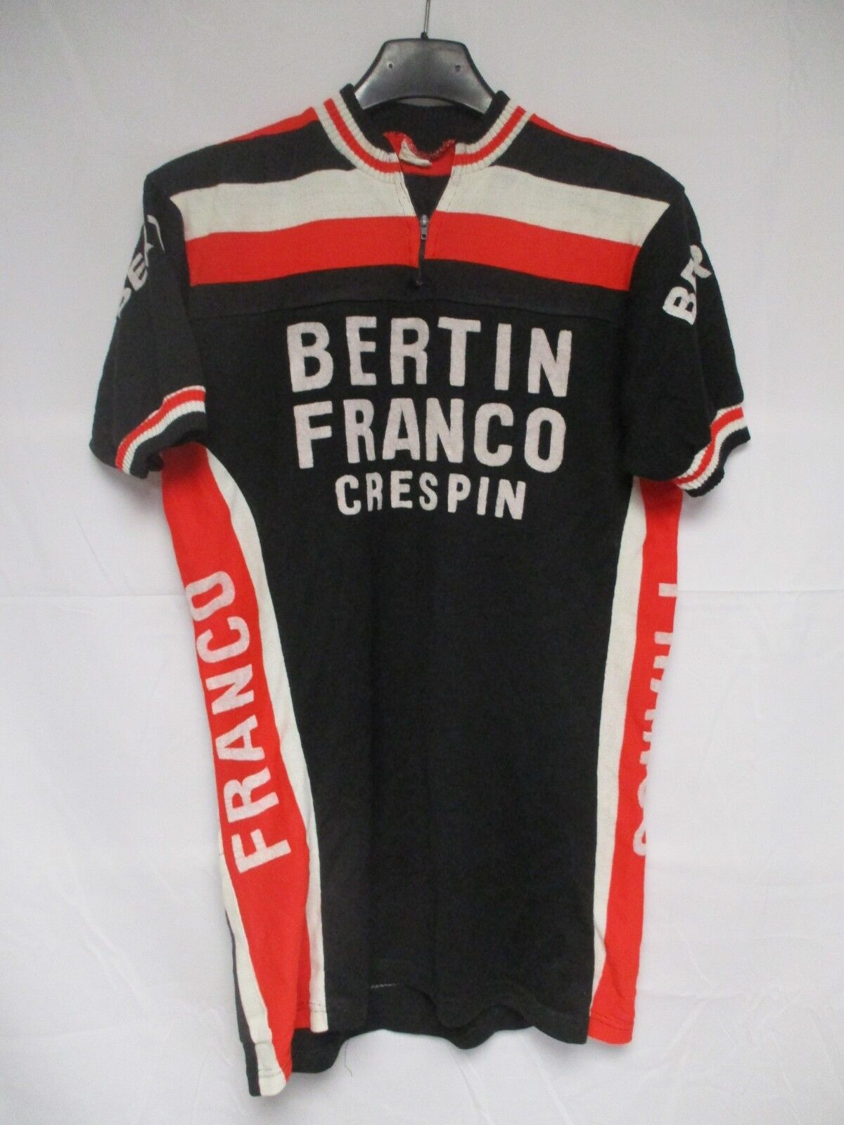 Maillot cycliste BERTIN FRANCO CRESPIN vintage shirt trikot jersey 70's maglia M