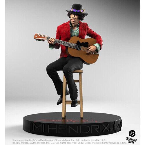 JIMI HENDRIX - Rock Iconz - Jimi Hendrix II 1 9 Polystone Statue Knucklebonz