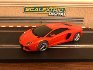 Scalextric Numérique Lamborghini Aventador Lp 700-4 Borrealis Orange C3460 Neuf